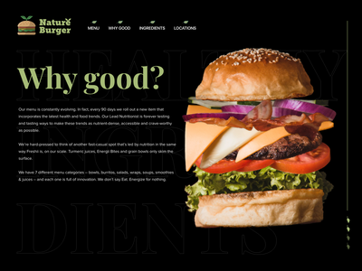 Nature burger location & about page UI burger kitchen abut location typography logo clean ui adobe xd design ux interface branding illustration ui