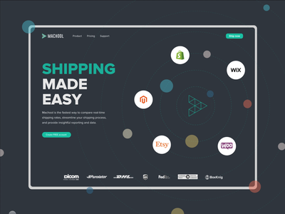 Home screen idea shipping animation adobe xd clean ui design interface branding ux illustration ui