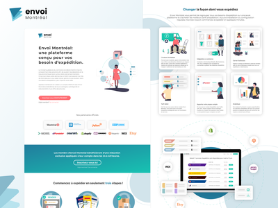 Landing page for city of Montreal project shipping logo adobe xd design clean ui interface branding ux illustration ui
