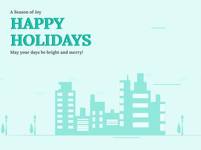 Happy Holidays Scooter lady animation flat minimal vector shipping animation design interface branding illustration ui