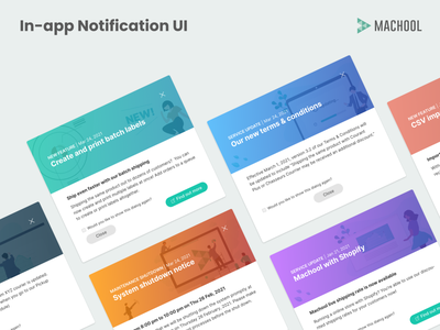 In-app notification UI gradient animation modal shipping adobe xd clean ui interface ux branding illustration ui