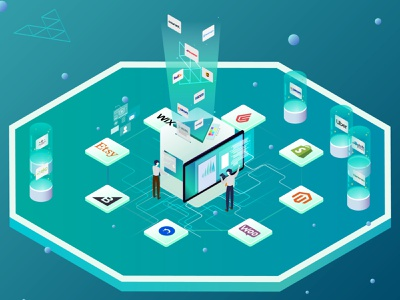 E-commerce and providers illustration isometric animation 3d graphic design vector design clean ui interface ux branding illustration ui