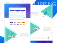 Landing (Features) page design