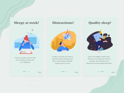 Onboarding Sleep Tracker application