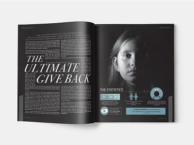 Magazine Layout simple minimal illustration typography layout magazine