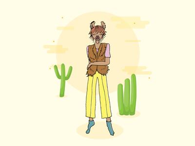 Little Miss Llama illustrator sketch llama illustration