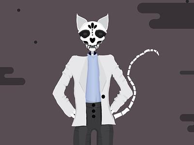 Skeleton Cat. dead skeleton cat illustration