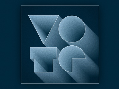 VOTE grit blue voting election geometric texture typography type graphic vote
