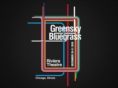 Greensky Bluegrass - NYE Merchandise Design