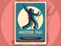 Anderson .Paak - Fillmore Denver poster