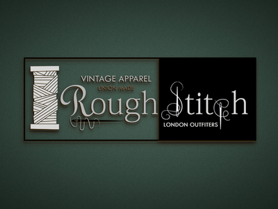 Vintage Apparel Logo - Stitching Design - TAG Management LLC vintage logo apparel design apparel logo stitching icon typography final brand identity brand book logo mark construction elegant logo beautiful logo color palette company style guide logo design concept branding project illustrated logo branding branding design illustration tagmanagementllc