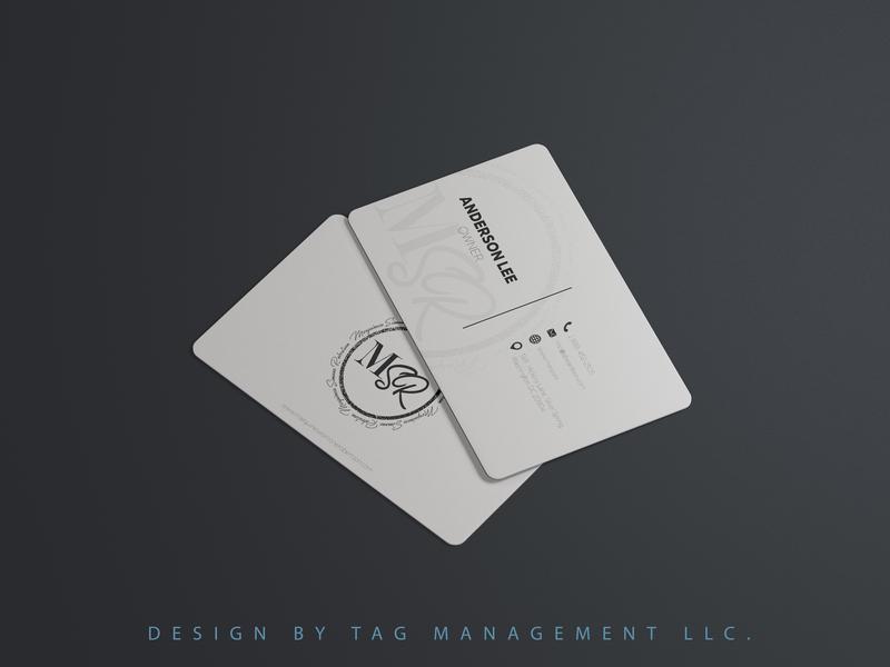 Minimalist & Creative Business Card Design -  TAG Management LLC