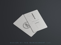 Minimalist & Creative Business Card Design -  TAG Management LLC