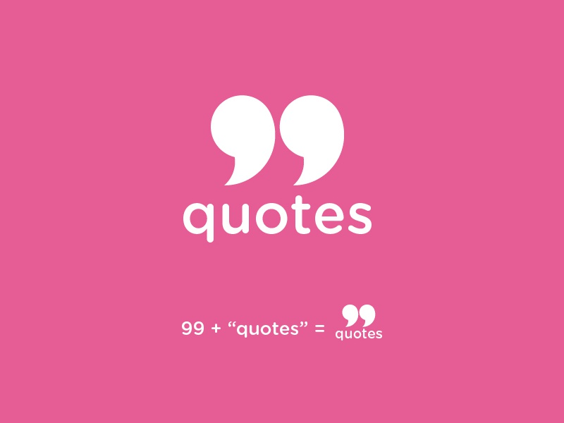 quotes logo by oteng johnson on dribbble