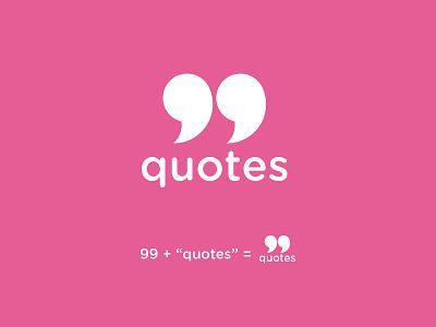 99 Quotes Logo concept inspiration design art vector logo illustrator illustration