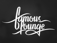 Famous Lounge Typo