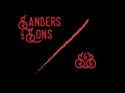 Sanders & Sons Branding monogram texture vintage logo design designer graphic design design branding logo