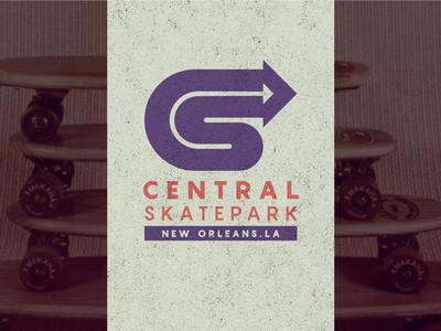 Central Skatepark Logo branding graphic designer graphic design skatepark skate design logo design logo