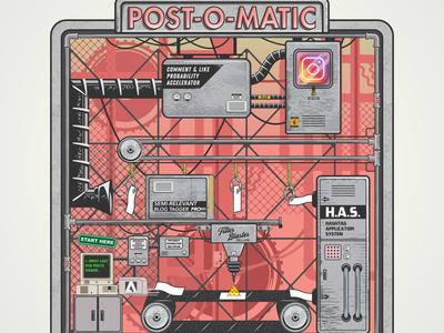 Post-O-Maria vectorart vector adobe illustrator illustration design