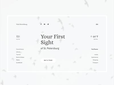 VisitPetersburg interface webdesign concept design ux ui