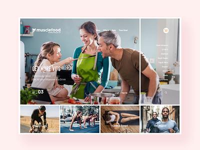 MuscleFood ecommerce kvpavlov webdesign ux design ui