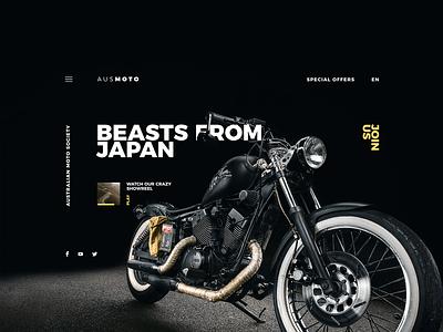 AusMoto motorbikes bikes motorcycle moto kvpavlov interface creative design ux ui