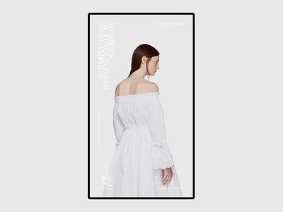 Alexander McQueen typography mcqueen clothes fashion minimal kvpavlov concept design ux ui