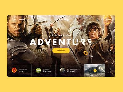 The Lord of the Rings: «Magic Trips» webdesign kvpavlov concept ui