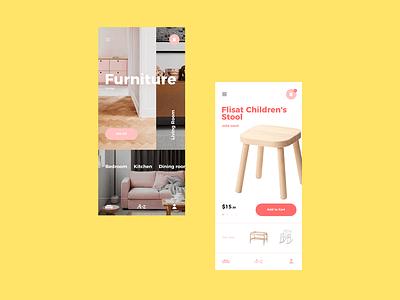 Furniture App ios app typography kvpavlov design ux ui