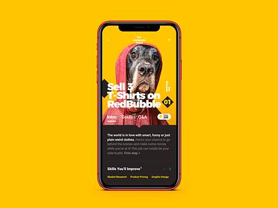 Some details of «The Lemonade Stand» iOS app design. education app education typography app design ios design design ux ui