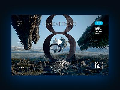 Game of Thrones: Season 8 game of thrones got concept design ux ui
