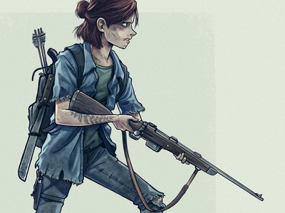 Ellie character girl photoshop fan art game playstation illustration drawing ellie last of us