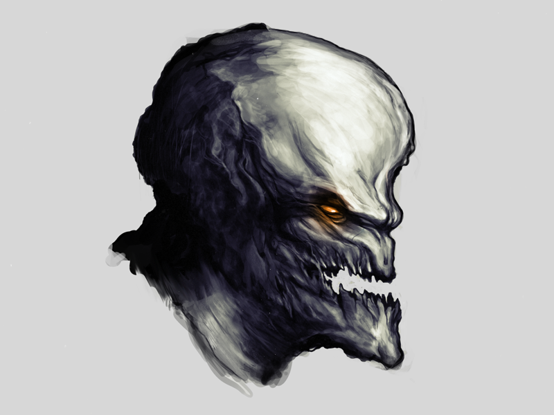 Ghoul ghoul photoshop loose quick drawing concept art monster