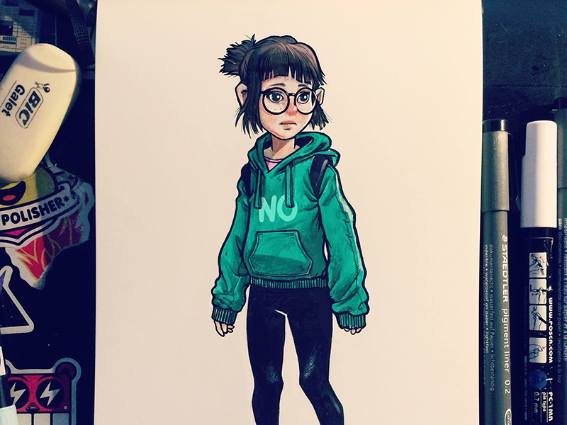 N0 ink markers pencils paper drawing