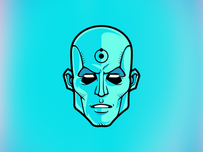 Doctor Manhattan who watches the watchmen comic watchmen jon osterman dr manhattan illustration sticker