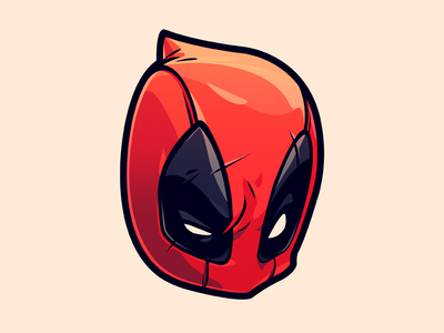 DEADPOOL Sticker wade wilson chimichangas movie mcu marvel comic deadpool cartoon illustration sticker