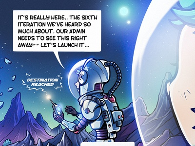The Search For Six phusion sci-fi photoshop illustration comic one-page comic passenger