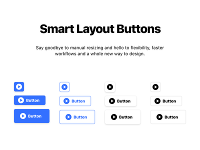 Free Smart Layout Buttons download ux ui sketch freebie free clean button blue