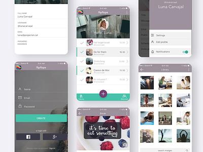 Application design to manage breaks at work design task manager web uiux webdesign logo branding app design app