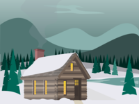 Cabin Winter WIP