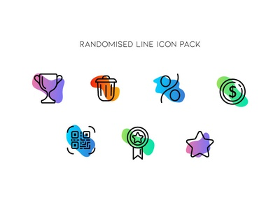 Randomised Line Icon Pack