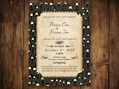 Vintage Wedding Invitation typography photoshop design illustration vector illustrator