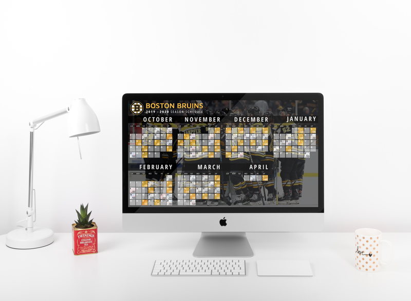 Boston Bruins Schedule Wallpaper photoshop staged desktop boston bruins boston hockey logo 4k wallpaper hockey logo typography design fanart