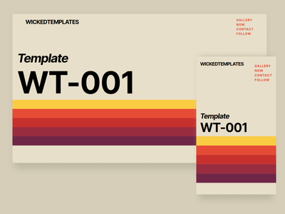 Wicked Templates - Betamax TBT ui clean typography branding frontend web design video color vintage design template betamax retro vintage