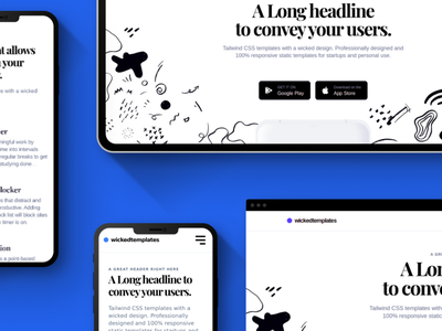 Premium Landing page with Tailwind CSS website ux ui illustration figma branding app clean typography web design