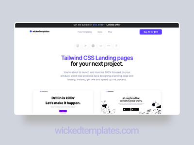 wickedtemplates.com    Fresh and clean. typography inter wickedtemplates branding clean clea web design