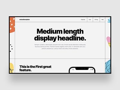 Wicked Templates - Noir template tailwindcss template web design minimal design