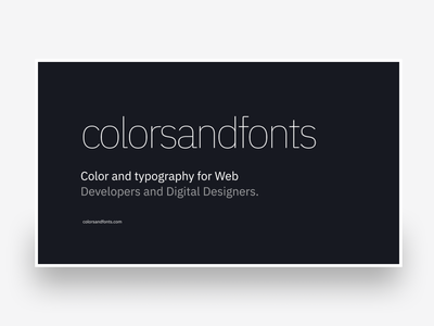 Colors & Fonts    New Face branding clean web design typography figma color system color colors and fonts