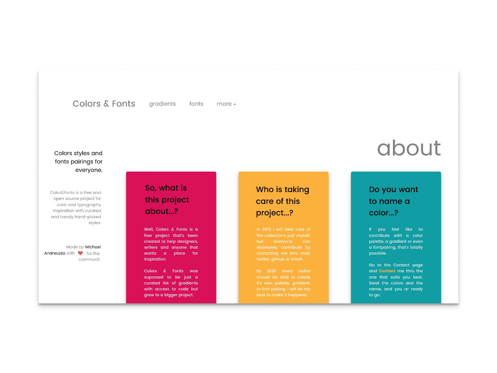 Best Font Pairings 2020 Colors&Fonts by Michael Andreuzza on Dribbble