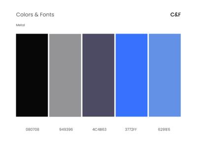 Colors&Fonts Metal